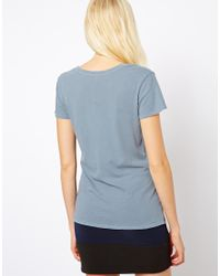 James Perse | Blue Relaxed Casual Tshirt | Lyst