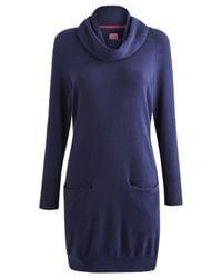 Joules - Blue Elham Knitted Dress - Lyst