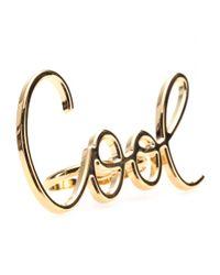 Lanvin - Metallic Cool Ring - Lyst