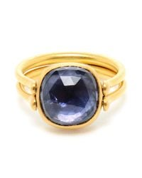 Marie-hélène De Taillac | Metallic Reversible Aquamarine 22k Gold Ring | Lyst