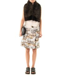 Marni - Natural Bicolour Fox Fur Wrap - Lyst