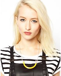 ASOS - Yellow Me Zena Pencil Necklace - Lyst