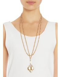 Olivia Collings - Metallic Gold Triple Locket Necklace - Lyst