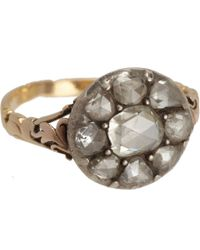 Olivia Collings - Metallic Rose Cut Diamond Cluster Ring - Lyst