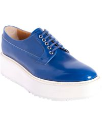 7cfd638628ec Lyst - Prada Platform Oxford in Blue