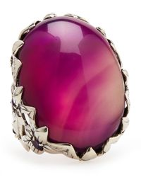 Stephen Dweck - Purple Agate Delphinium Ring - Lyst