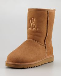 UGG | Brown Monogrammed Short Boot Chestnut | Lyst