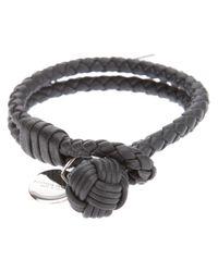 Bottega Veneta   Gray Intrecciato Bracelet   Lyst