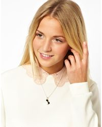 ASOS | Black Disney Mickey Mouse Ears Necklace | Lyst