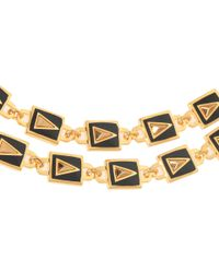 Eddie Borgo - Metallic Goldplated Enamel Pyramid Link Necklace - Lyst