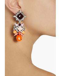 Shourouk - Orange Blondie Harlow Silverplated Swarovski Crystal Earrings - Lyst