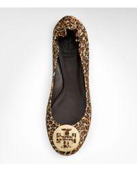 Tory Burch - Multicolor Saffiano Leopard Print Reva Ballet Flat - Lyst