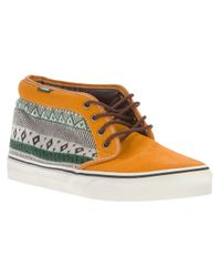 Vans | Brown Chukka 79 Ethnic Patterned Hitop Sneaker for Men | Lyst