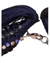 Alyssa Norton - Blue Chain Braided Necklace - Lyst