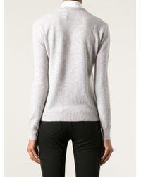 Burberry Brit - Gray Car Print Sweater - Lyst