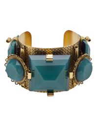 Erickson Beamon | Metallic Large Stone Cuff | Lyst