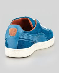 Alexander McQueen X Puma - Amq Suede Laceup Sneaker Blue for Men - Lyst