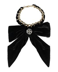 TOPSHOP | Black Bow Collar Curb Chain | Lyst