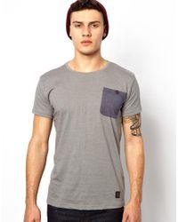 Anerkjendt - Gray Ankerkjendt Tshirt with Pocket for Men - Lyst