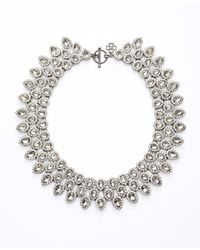 Ann Taylor - Metallic Crystal Cascade Statement Necklace - Lyst
