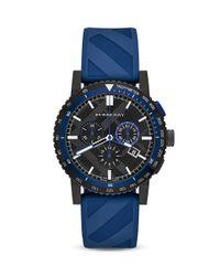 Burberry - Blue Sport Watch, 42mm for Men - Lyst
