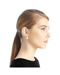 COACH | Metallic Pave Disc Drop Earrings | Lyst