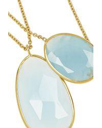 Pippa Small - Blue 18karat Gold Aquamarine Necklace - Lyst