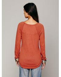 Free People | Orange We The Free Rufio Raglan | Lyst