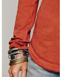 Free People - Orange We The Free Rufio Raglan - Lyst
