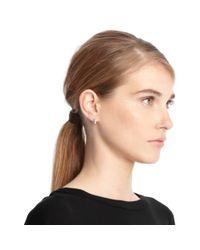 COACH | Metallic Sterling Sliding Stones Huggie Earrings | Lyst