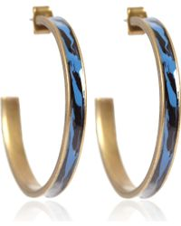Isabel Marant | Blue Resin Hoop Earrings | Lyst