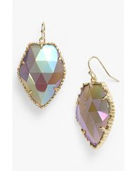 Kendra Scott | Metallic Corley Faced Stone Drop Earrings | Lyst