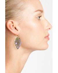 Kendra Scott   Metallic Corley Faced Stone Drop Earrings   Lyst
