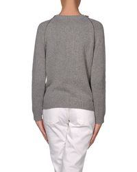 Boutique Moschino - Gray Cardigan - Lyst