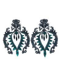 Roberto Cavalli - Green Clip On Earrings - Lyst