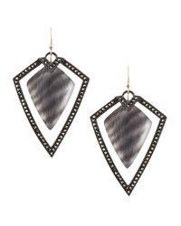 Alexis Bittar | Santa Fe Deco Large Zebra Earrings | Lyst