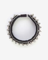 Barbara Bui - Metallic Spike Leather Bracelet - Lyst