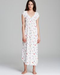 Carole Hochman - White Fresco Roses Long Nightgown - Lyst