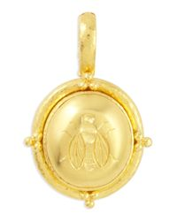 Elizabeth Locke - Metallic 19k Gold Oval Honey Bee Pendant - Lyst