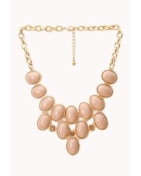 Forever 21 - Pink Luxe Bib Necklace - Lyst
