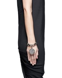 Givenchy - Metallic Small Medallion Chain Bracelet - Lyst