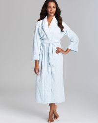 Oscar de la Renta | Blue Plush Tapestry Embossed Robe | Lyst