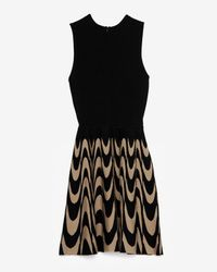 Parker - Multicolor Exclusive Print Skirt Flare Knit Sleeveless Dress - Lyst