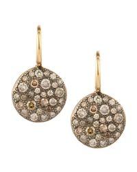 Pomellato - Natural Sabbia White Pave Diamond Earrings - Lyst