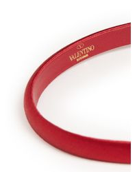 Valentino - Red Satin Bow Headband - Lyst