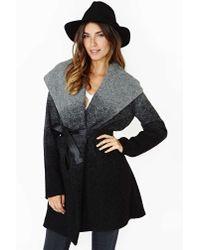 Nasty Gal - Black Bb Dakota Ombre Hooded Coat - Lyst