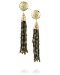 Rosantica | Gray Cascata Gold-Dipped Pyrite Clip Earrings | Lyst
