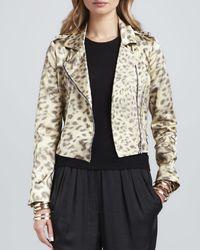 Alexis - Multicolor Tyler Leopard-Print Moto Jacket - Lyst