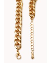 Forever 21 - Purple Street Chic Oversized Chain Necklace - Lyst