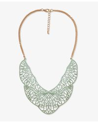 Forever 21 - Metallic Painted Filigree Bib Necklace - Lyst